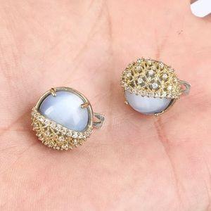 Sultan Beautiful Swirly Topaz Silver Earrings
